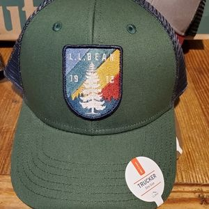 Ll bean trucker hat green blue